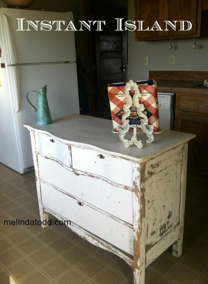 Kitchen Island From Antique Dresser