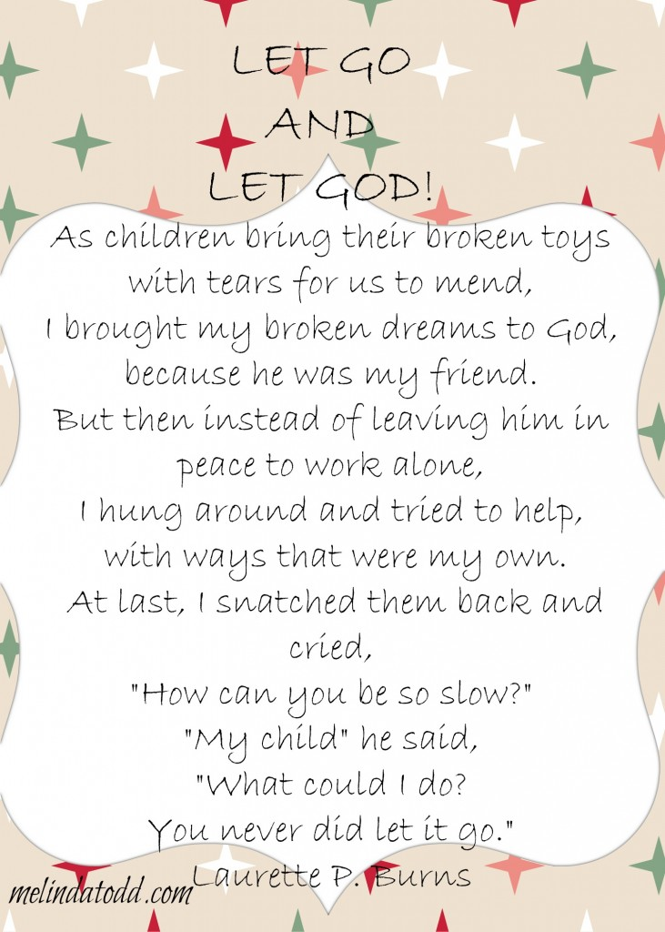 Let Go And Let God Poem