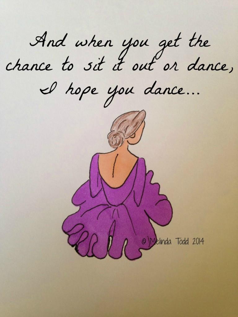 I hope you dance illustration by Melinda Todd