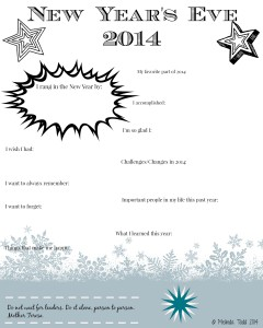 newNew Year's Eve 2014 Journal Printable by Melinda Todd