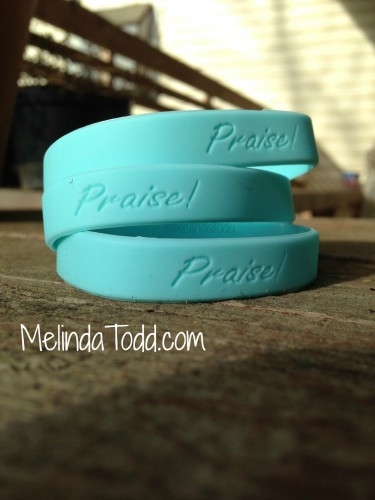 Praise Wristbands by Melinda Todd