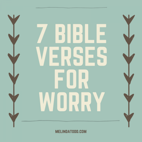 7 Bible Verses For when You Worry