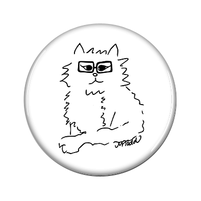 Hipster Cat Magnet Jewelry in Black and White