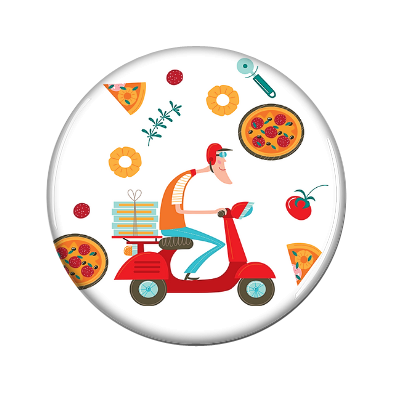 Pizza Delivery Magnetic Jewelry!